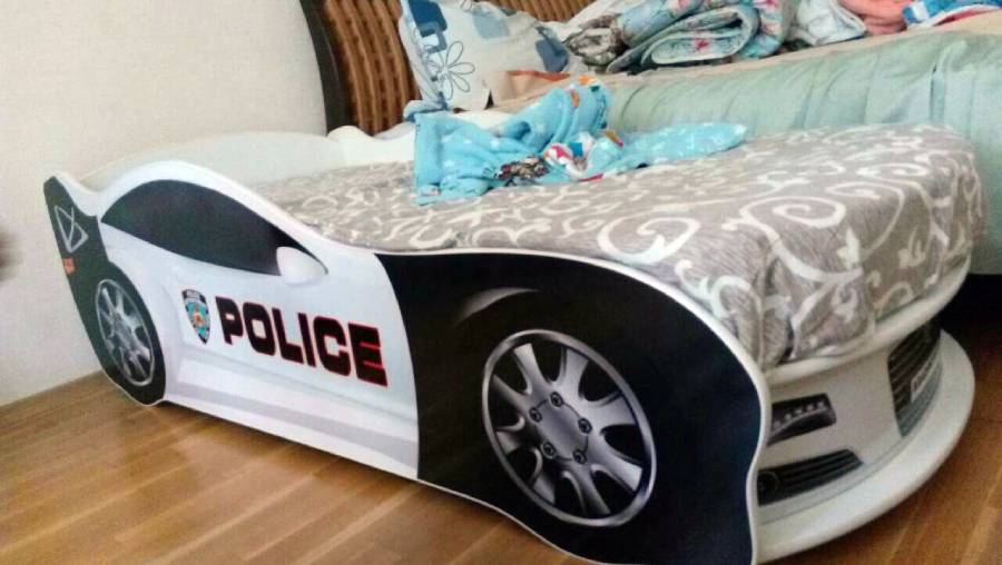 отзыв на кровать в виде машины полиция
