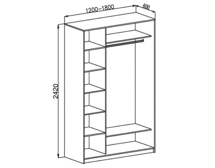 Схема шкафа на 2 двери
