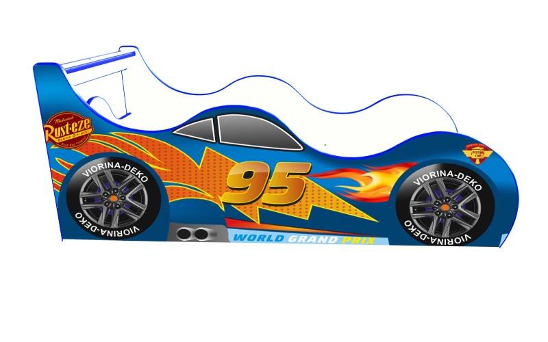 Синий маквин Драйв кровать машина