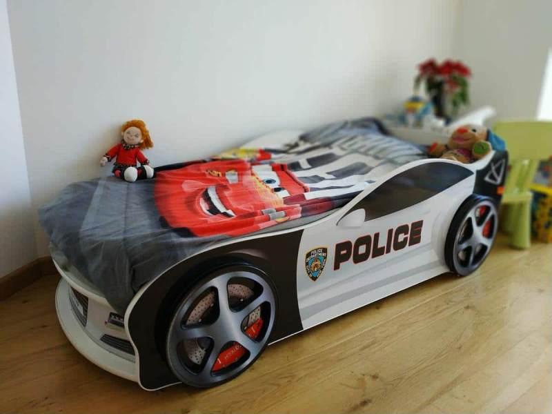 кровать машинка полиция ягуар