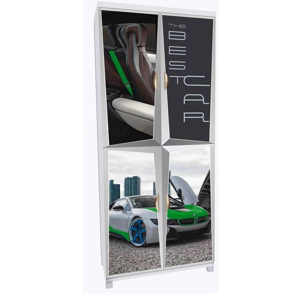 шкаф на 4 дверки зеленая бмв
