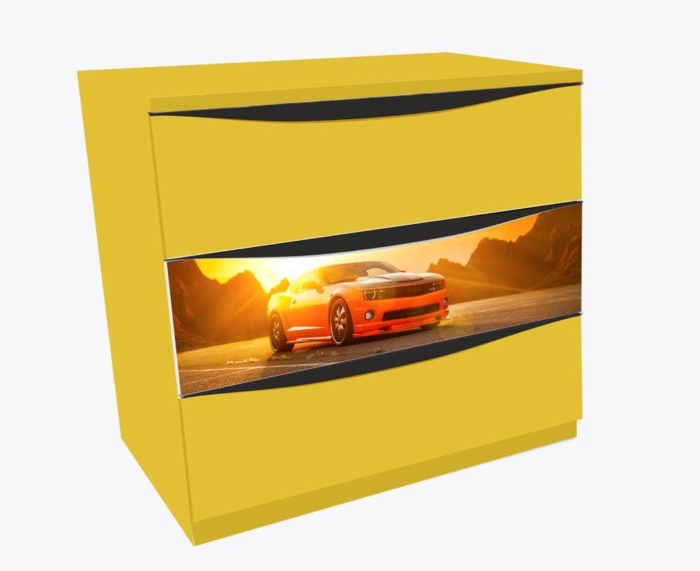 комод 3 ящика камаро желтый