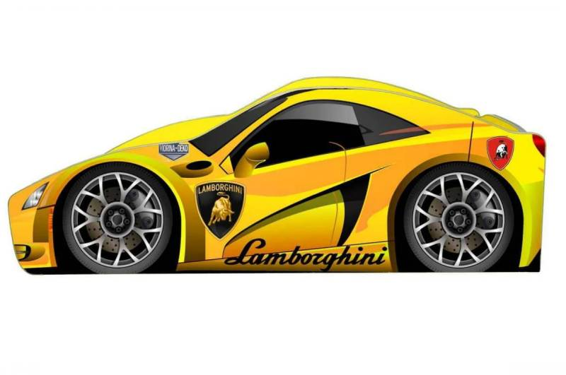 кровать машинка ламборджини бренд желтый