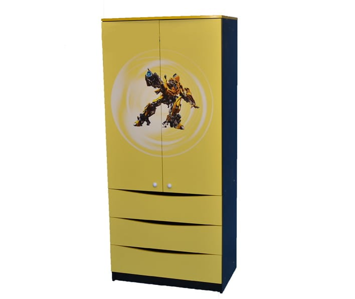 черно-желтый шкаф камаро с 3 ящиками