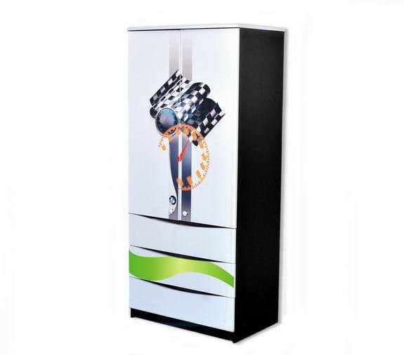 черно-белый шкаф с ящиками