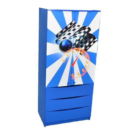 синий шкаф в детскую
