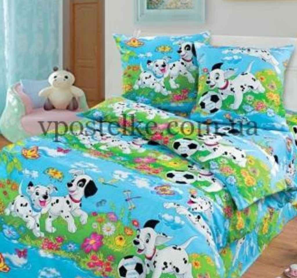 детское постельное арт дизайн далматинцы