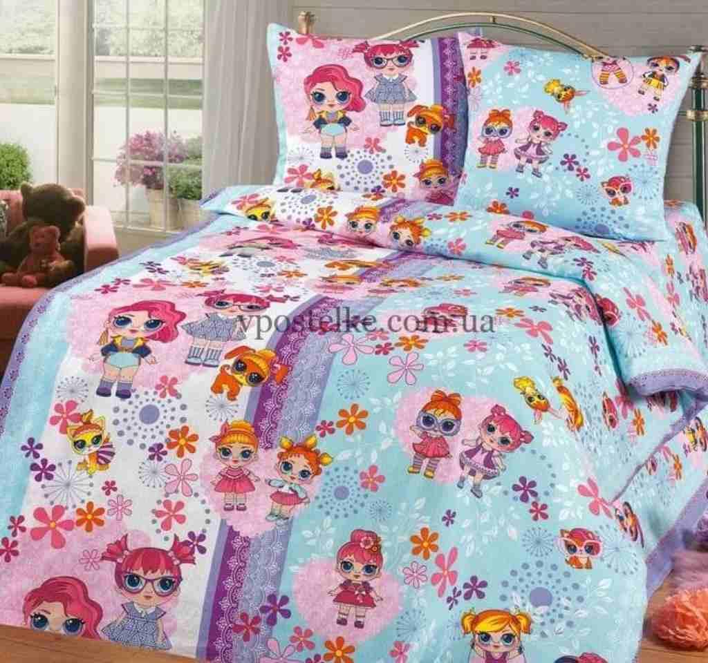 детское постельное арт дизайн куколки лол