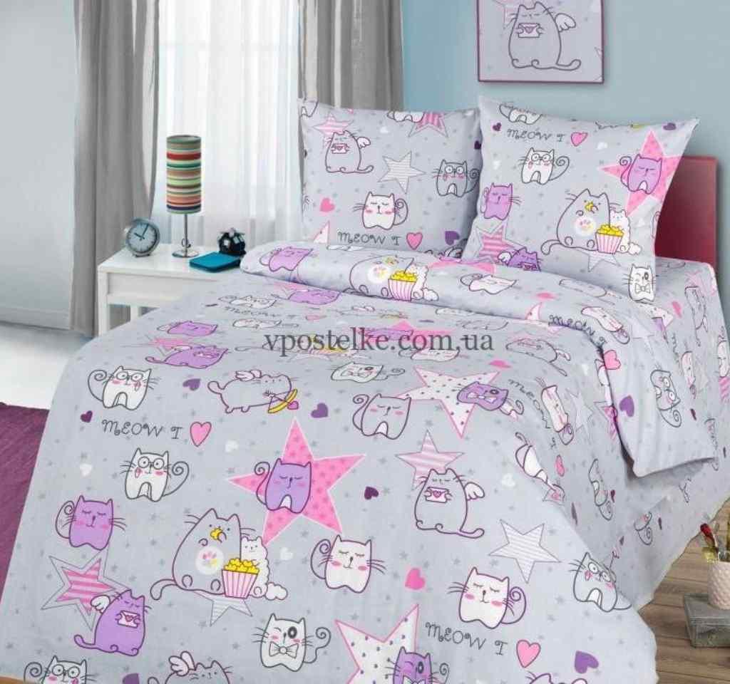 детское постельное арт дизайн мурчики