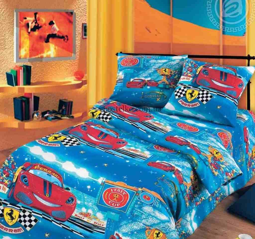 детское постельное арт дизайн ралли тачки