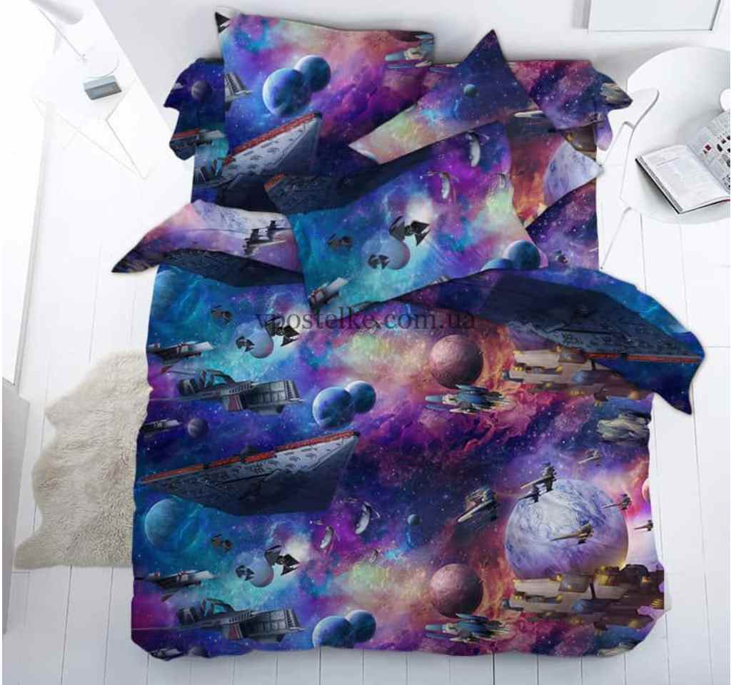 детское постельное бязь тейково космос