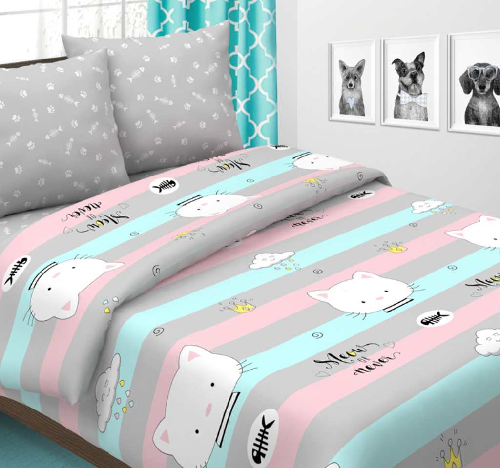 детское постельное поплин карамелька