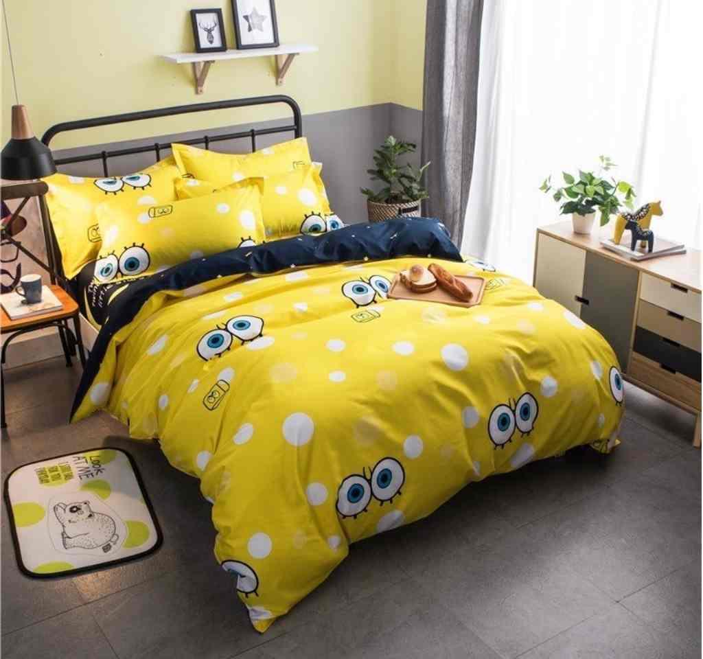 детское постельное ранфорс губка боб