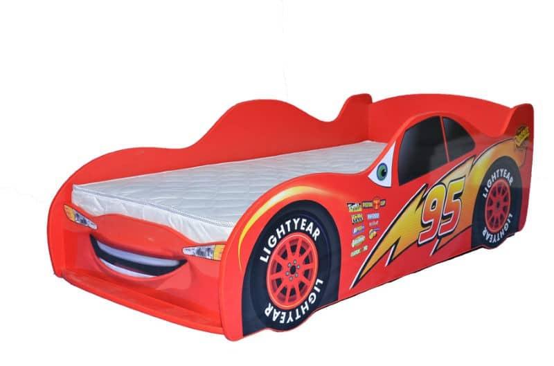 кровать машина тачки красная