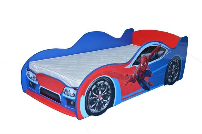 кровать машина спайдермен