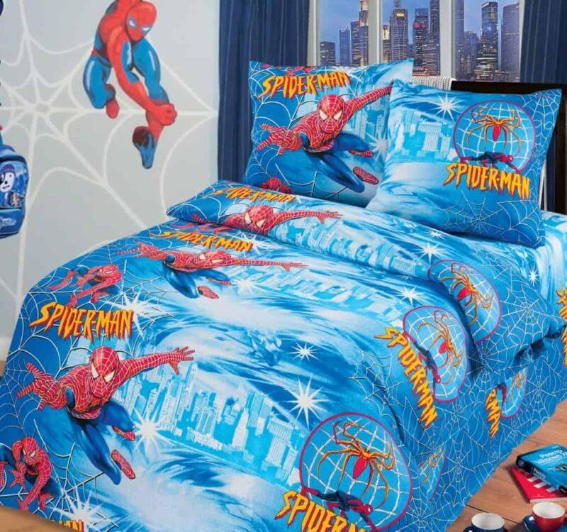 постельное белье спайдермен
