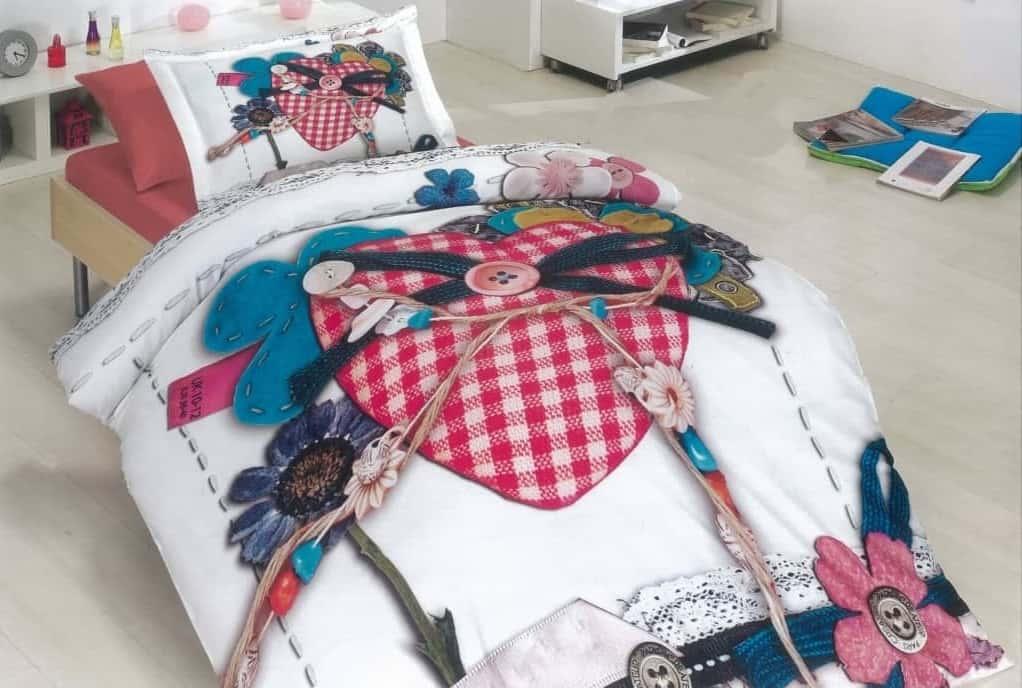 постельное белье сердце