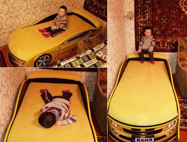 отзыв на кровать машину камаро желтую