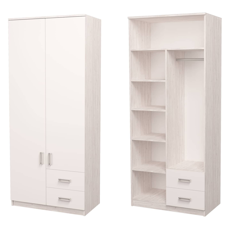 белый шкаф аляска комбинированный