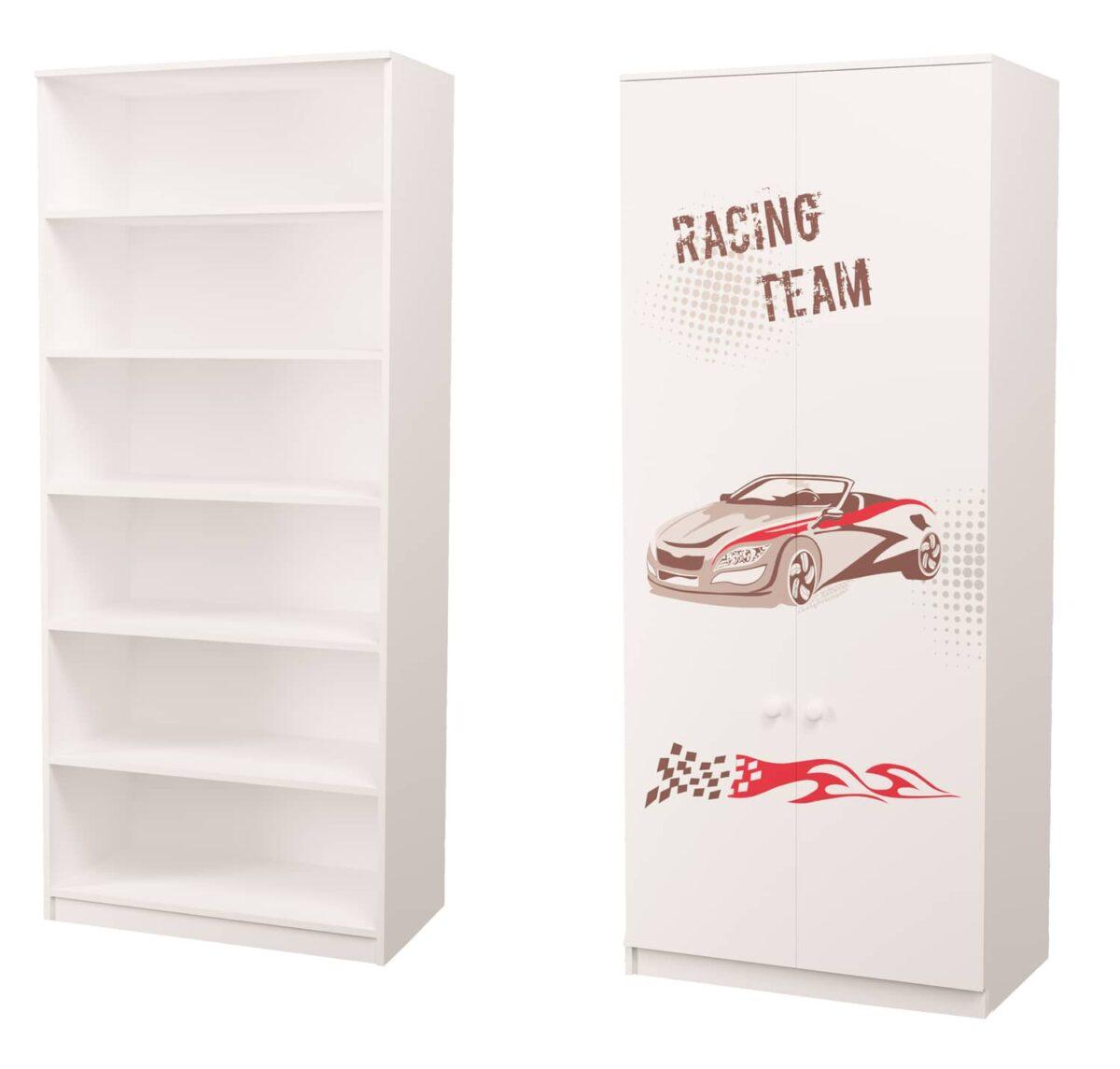 шкаф гонщик с полками