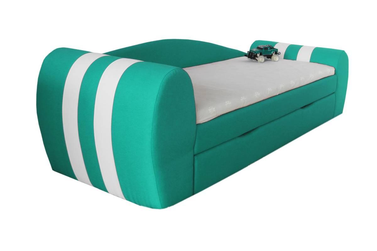 диван гранд голубой с ящиком детский сбоку