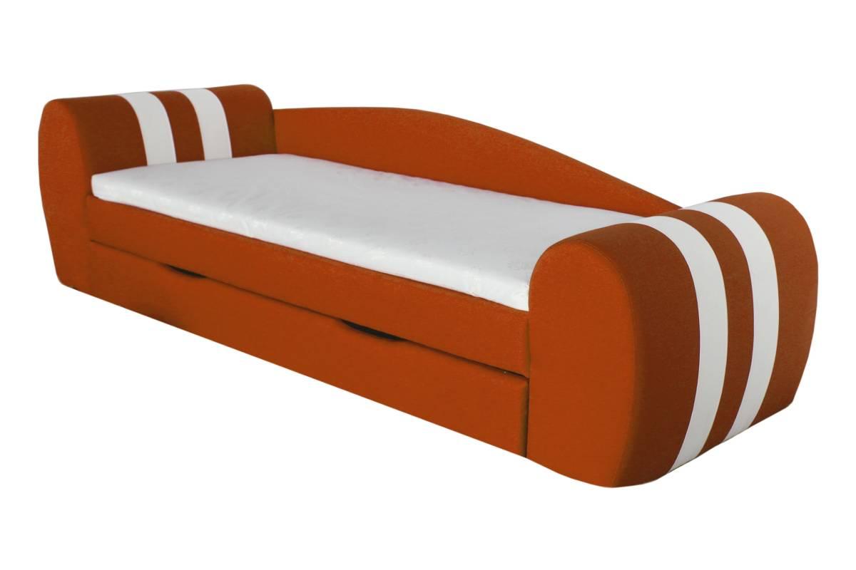 диван гранд оранжевый с ящиком