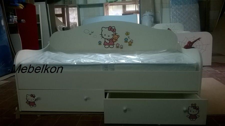 кровать диванчик для девочки хелло китти