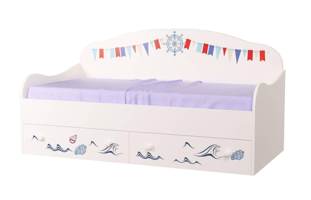 кровать диванчик детский кораблик