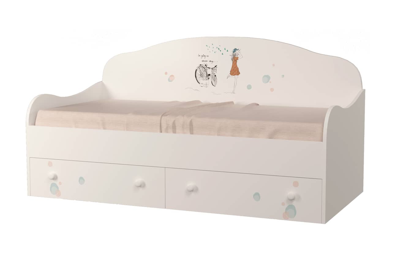 кровать диванчик гламур