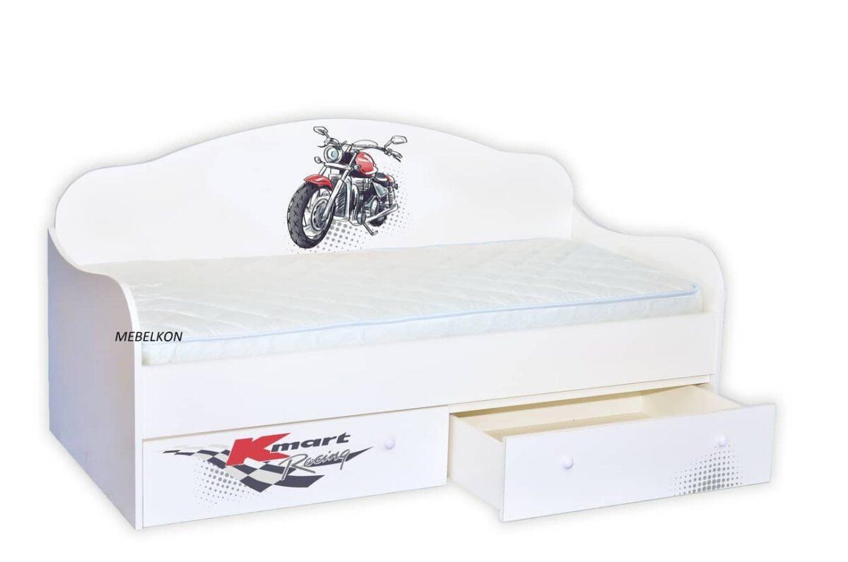 кровать с мотоциклом для мальчика