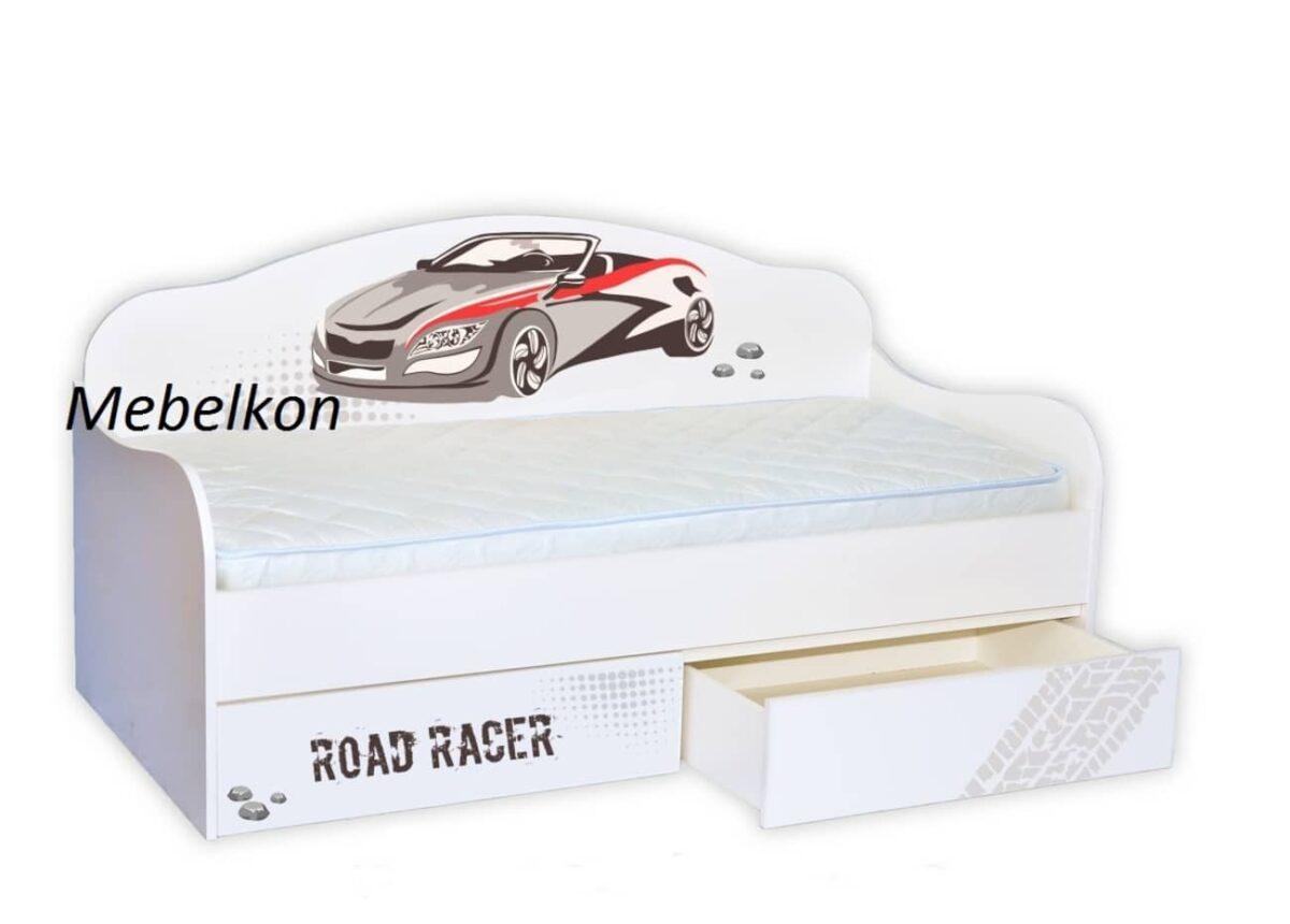 кровать диванчик гонщик с машинкой