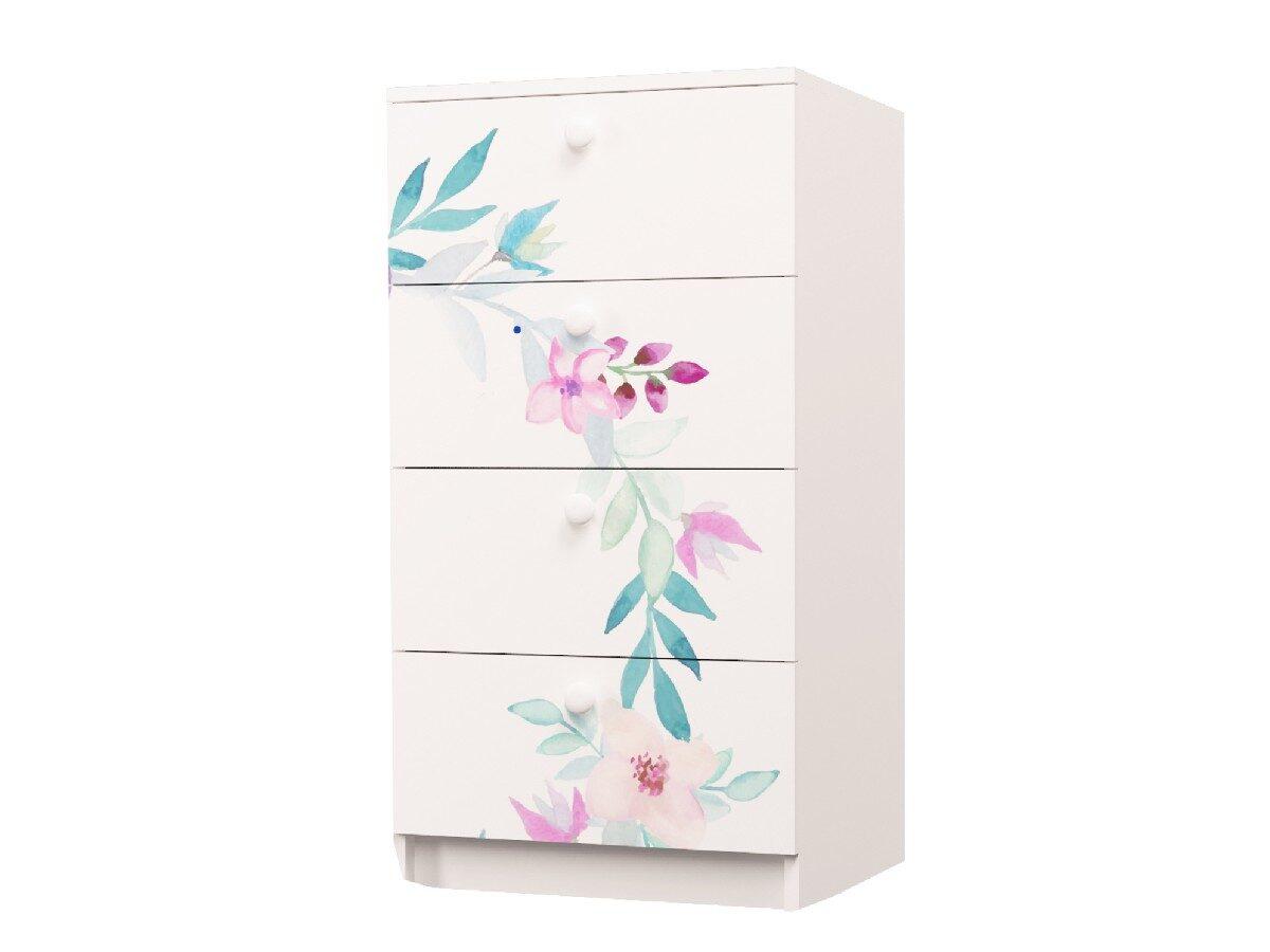 комод на 4 ящика цветы