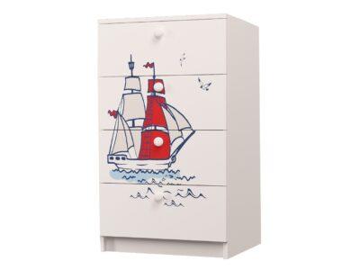 комод кораблик с 4 ящиками