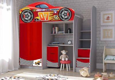ліжко кімната червона Маквін