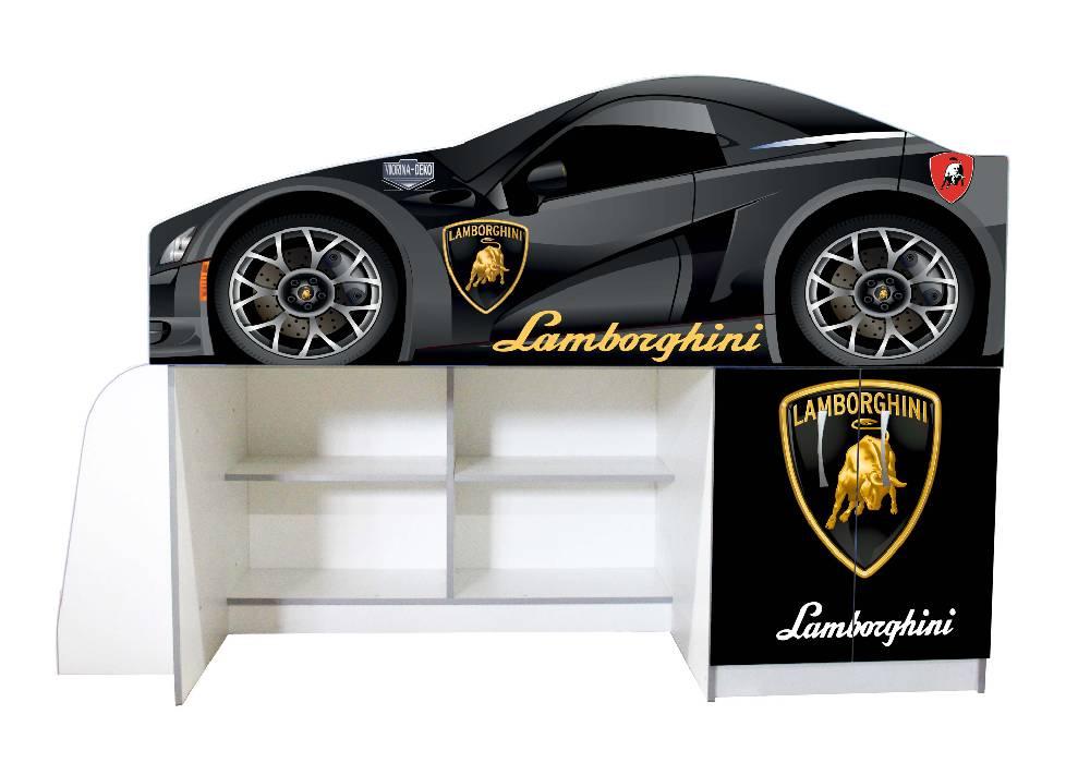кровать чердак ламборджини черная