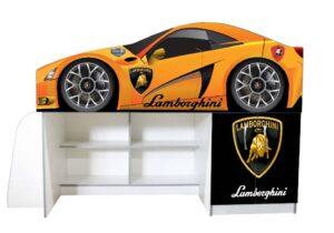 кровать чердак ламборджини оранжевая