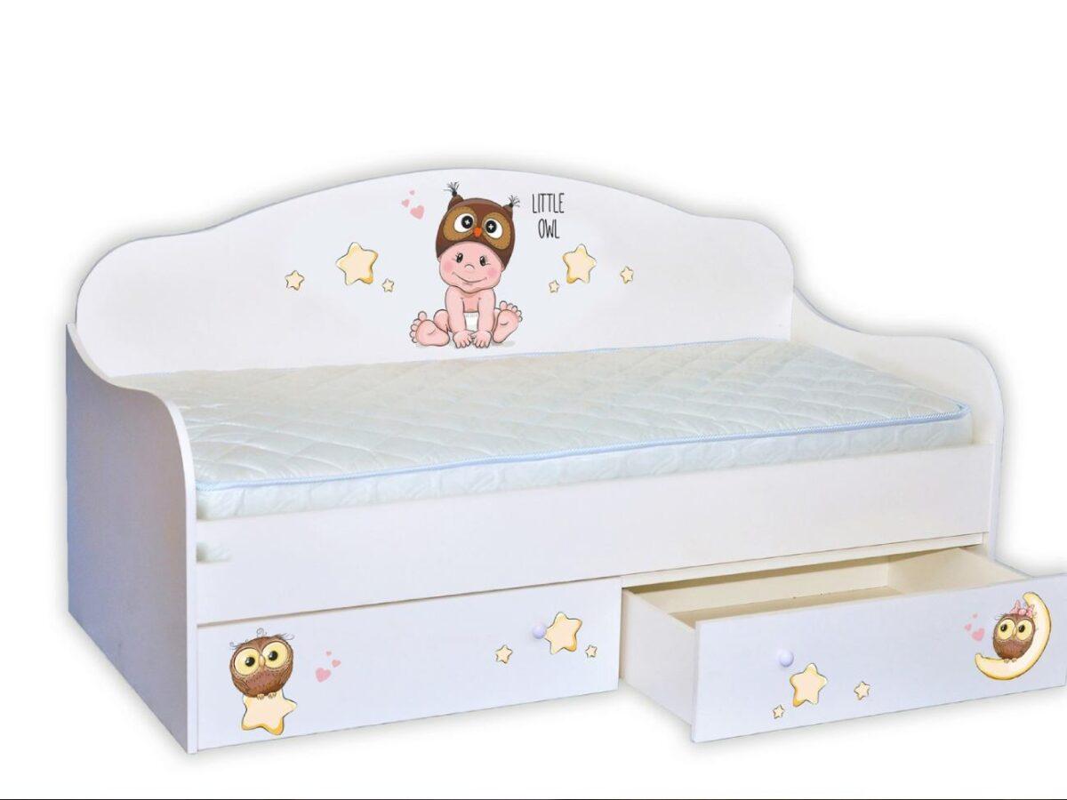 Кровать диванчик мальчик совенок