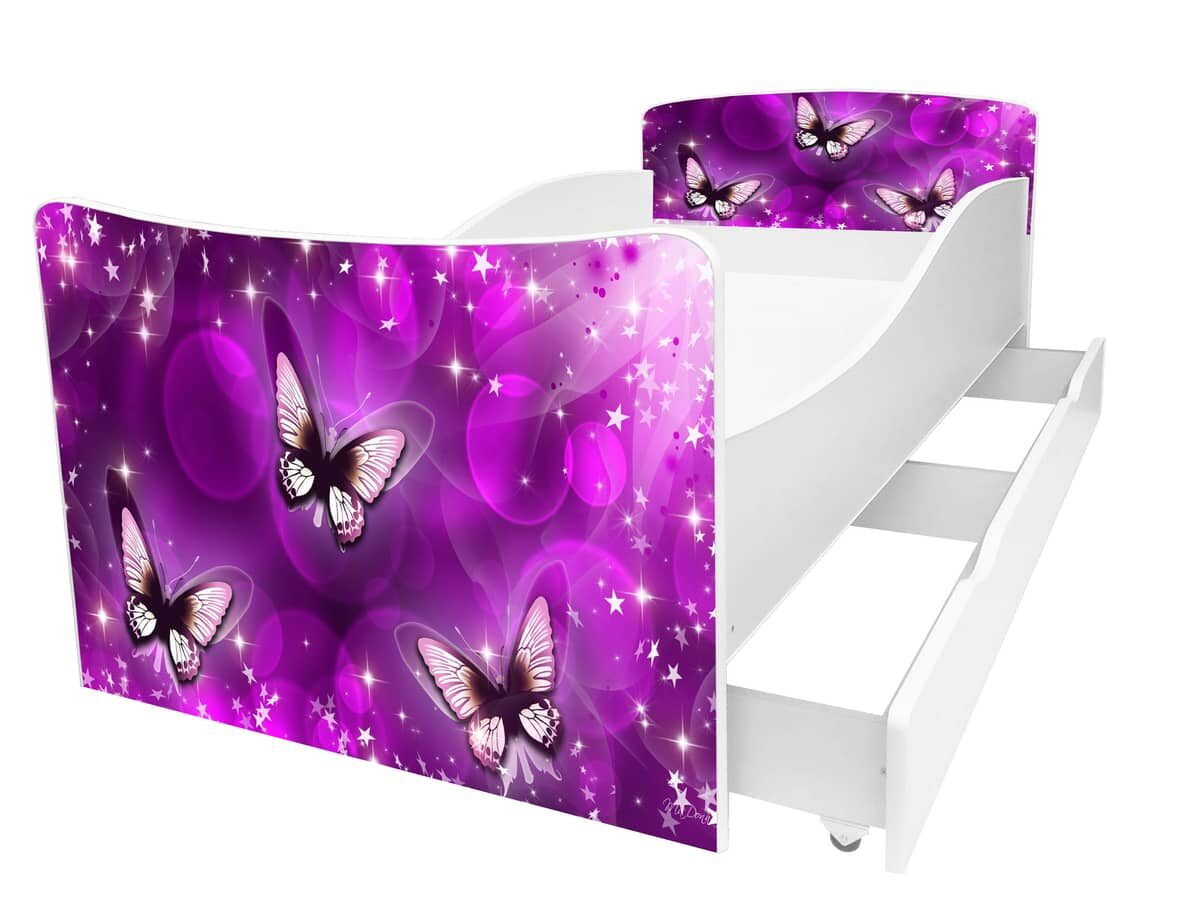 детская кровать киндер 3 бабочки
