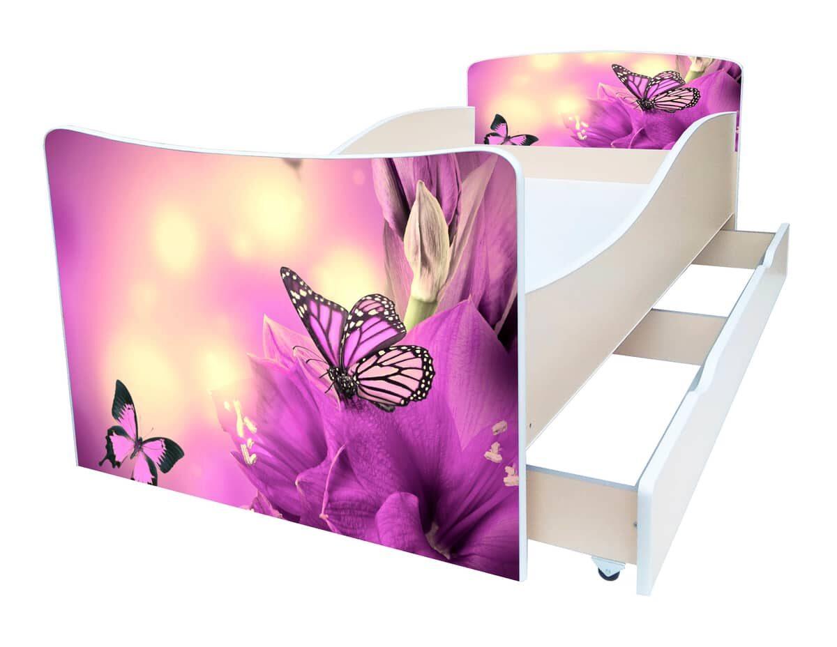 детская кровать киндер фиолет