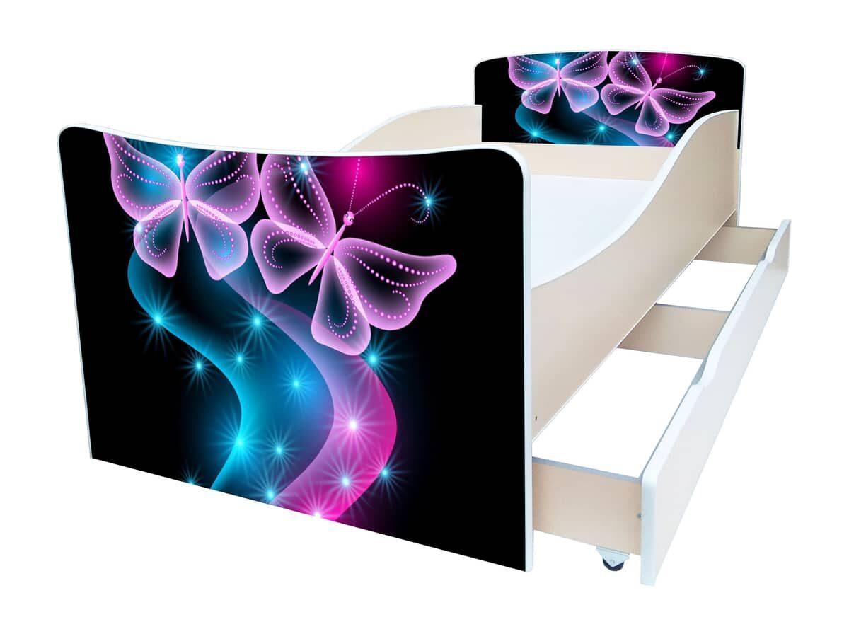 детская кровать киндер бабочки