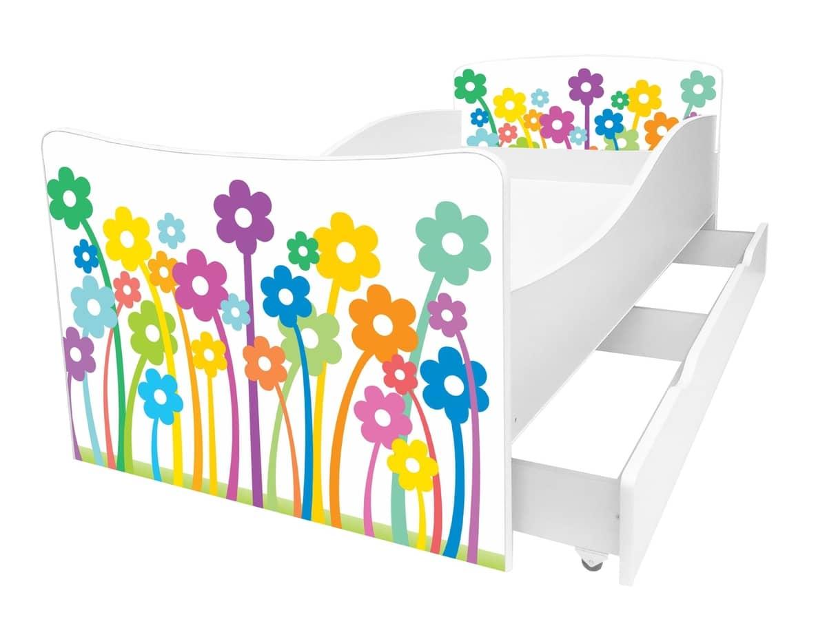 детская кровать киндер рисунок цветы