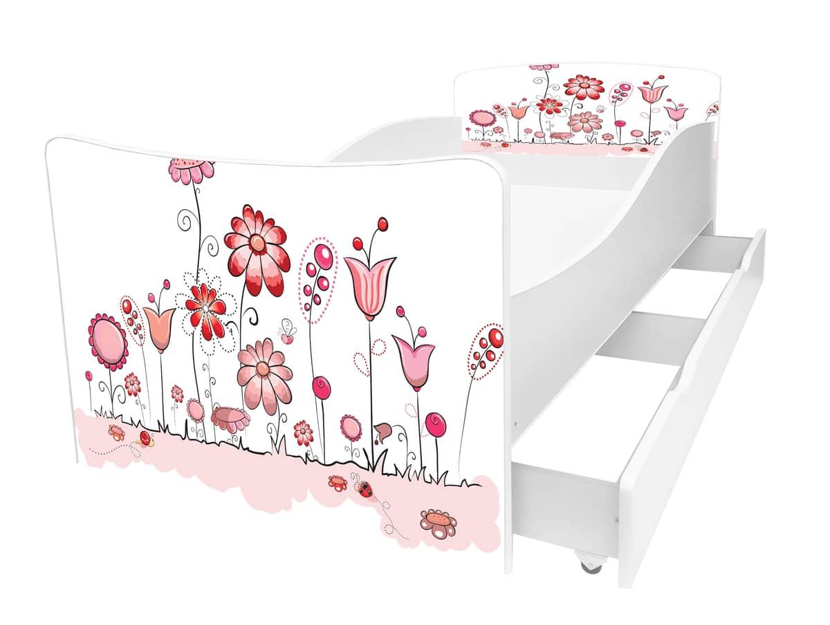 детская кровать киндер цветы