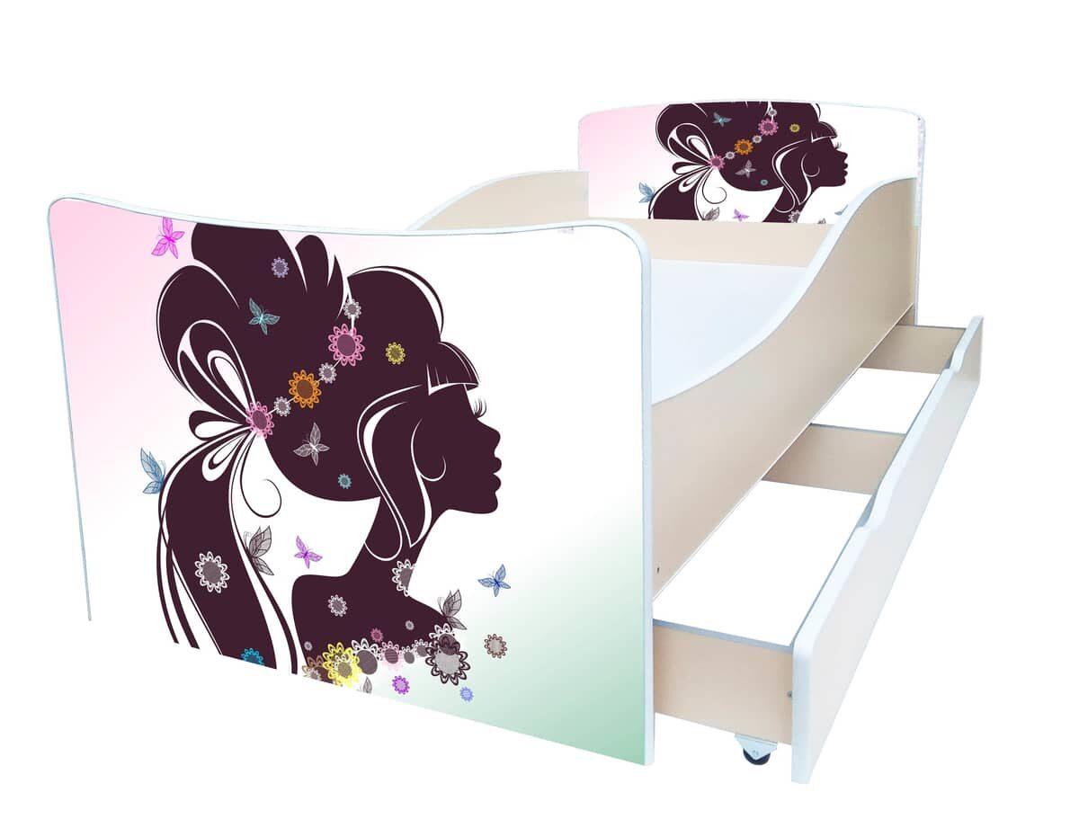 детская кровать киндер девушка