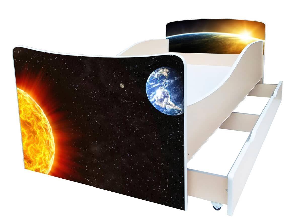 детская кровать киндер космос