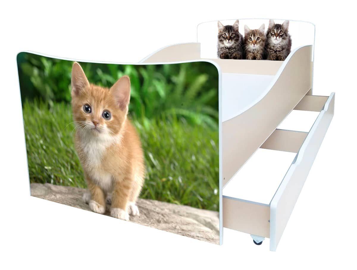 детская кровать киндер котик