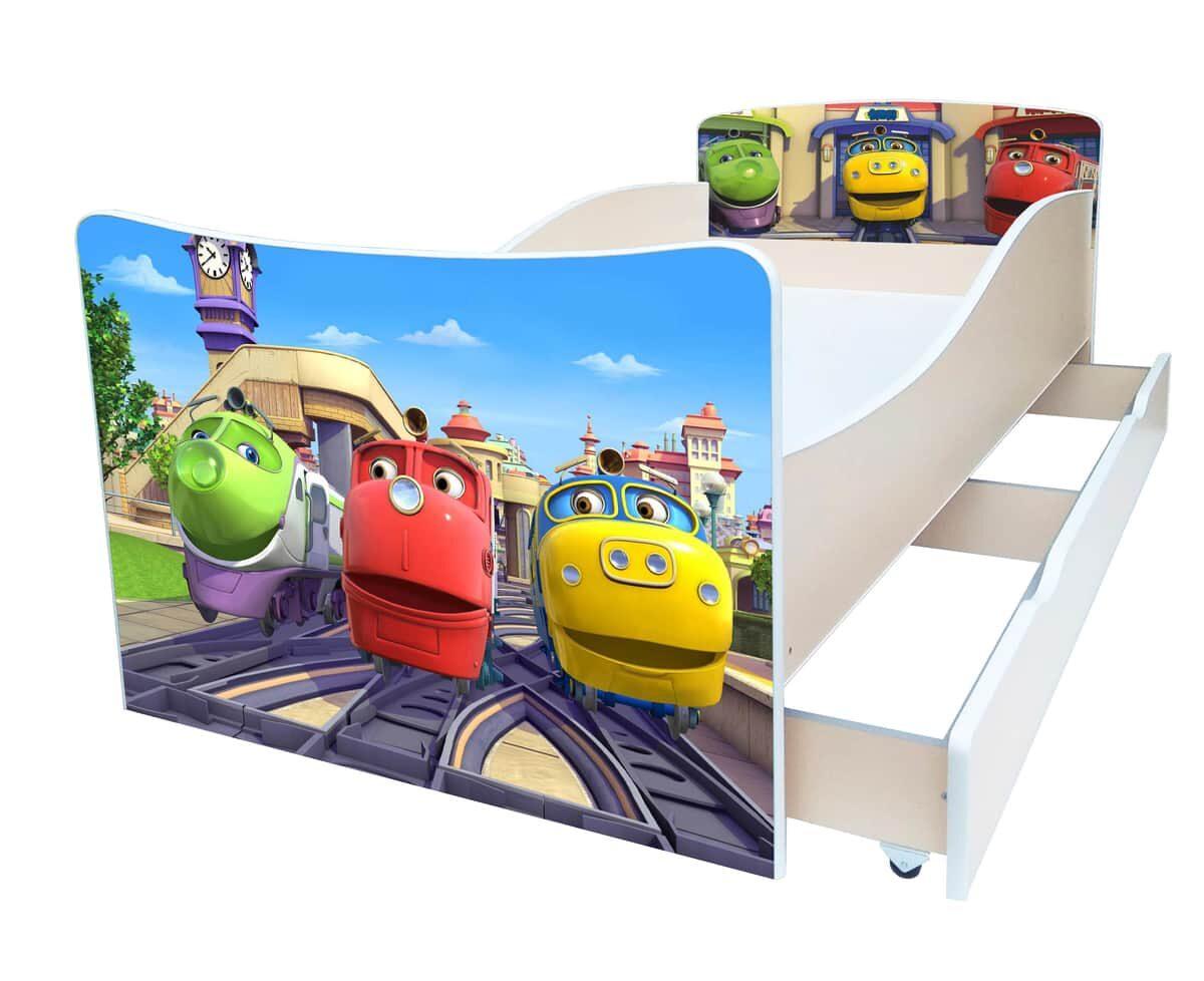 кровать киндер поезда