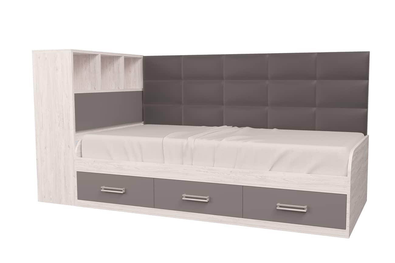 подростковая кровать аляска антрацит