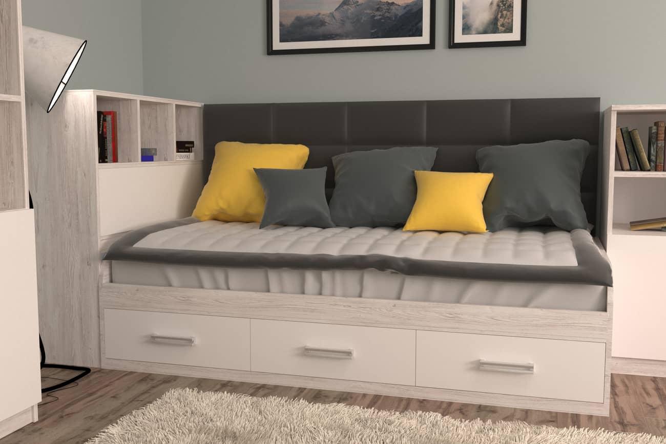 подростковая кровать аляска белый