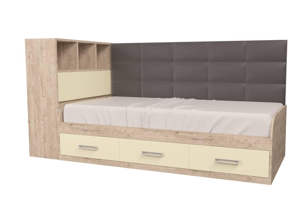 подростковая кровать шервуд ваниль