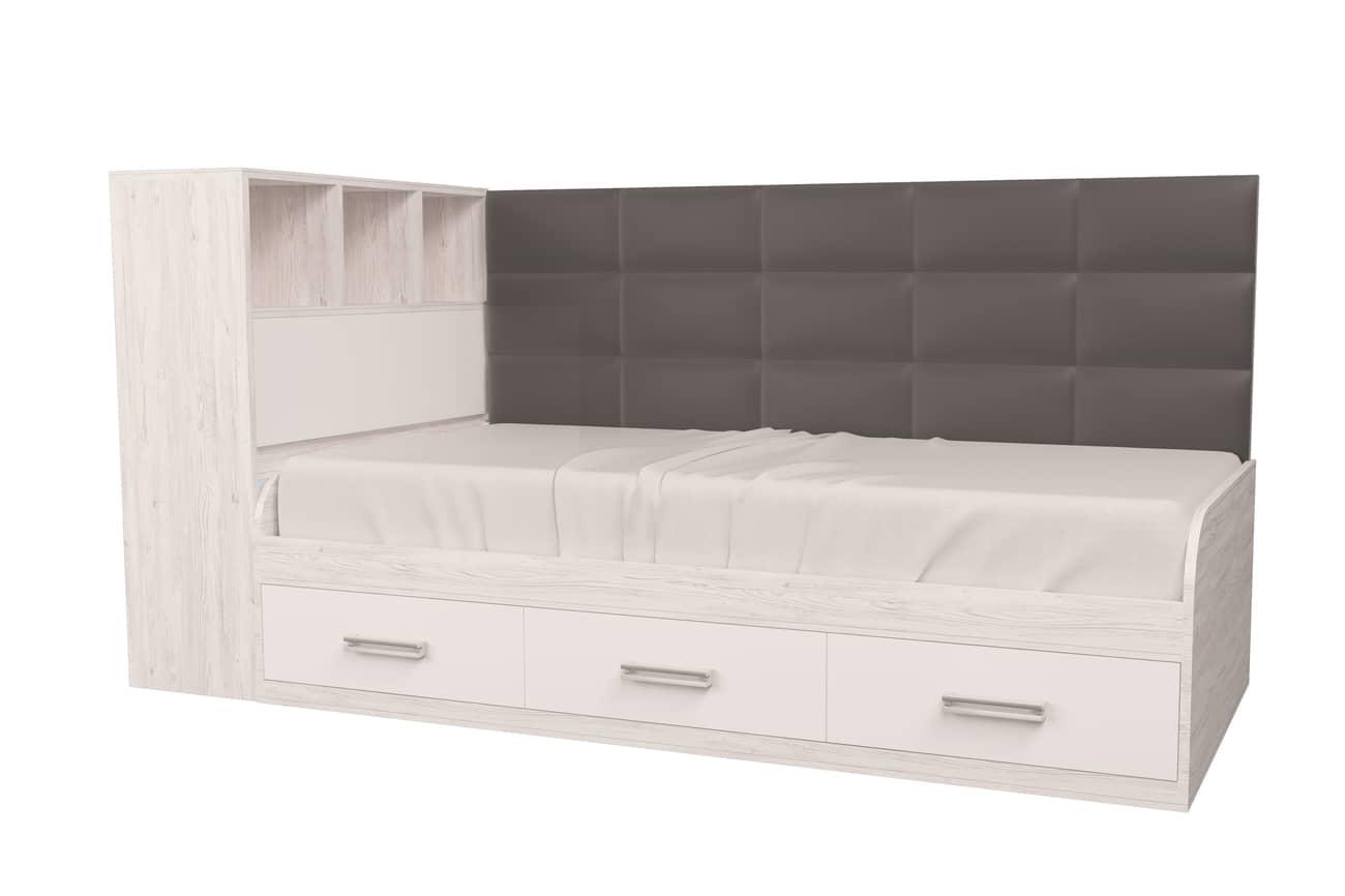 подростковая кровать аляска белый 1